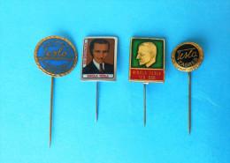 NIKOLA TESLA Famous Inventor * Old Rare Pin Badge - 4. Pcs.* Radio Physicist Inventeur Erfinder Anstecknadel Distintivo - Berühmte Personen