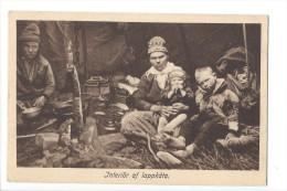 12455 - Types Lapons Famille Mère Et Enfants  Interiör Af Lappkata - Suède