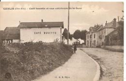 Genlis - Café Buvette Et Vue Extérieure De La Gare - France