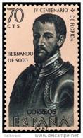ESPAÑA AÑO 1960 EDIFIL Nº 1299 ** MNH - FORJADORES DE AMERICA - 70 Cts - Sello Nuevo Sin Fijasellos - 1931-Aujourd'hui: II. République - ....Juan Carlos I