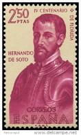 ESPAÑA AÑO 1960 EDIFIL Nº 1303 ** MNH - FORJADORES DE AMERICA - 2,50 Ptas - Sello Nuevo Sin Fijasellos - 1931-Aujourd'hui: II. République - ....Juan Carlos I