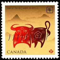 Canada - Scott #2296 Year Of The Ox (*) / Used Stamp - Astrology