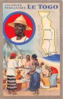 ¤¤  -  Colonies Françaises  -  Le TOGO  -  Carte Publicitaire Des Produits Du Lion Noir  -  ¤¤ - Togo