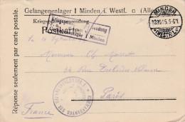 MINDEN - Lettre De Prisonnier De Guerre-  Kriegsgefangenensendung - Scan Recto-verso
