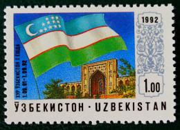 ANNIVERSAIRE DE L'INDEPENDANCE 1992 - N EUF ** - YT 3 - MI 3 - PAPIER NORMAL - Uzbekistan