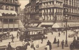CPA - BRUSSEL - BRUXELLES - Place De La Bourse - Tram  // - Places, Squares