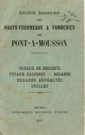 Livret Technique Tuyaux Et Regards De PONT A MOUSSON - Travaux Publics