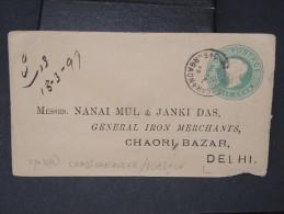 GRANDE BRETAGNE- 2 Entiers Postaux Voyagés  Pour Delhi A Voir    1899 Et 1915  Lot P4993 - 1882-1901 Empire
