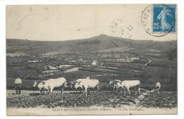 CPA -SAINT HONORE LES BAINS, VIEILLE MONTAGNE - Nièvre 58 - Boeufs Attelés -Circulé 1920 - Saint-Honoré-les-Bains