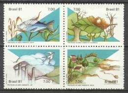 Brasil Brazil 1981 Mi 1829-1832 MNH FISHES - Brazilië