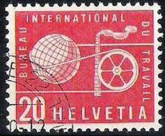 "Dienst IV ""Bureau Du Travail"" BIT 1956: Zu 96 Mi 95 (rot-rouge) O (Zu CHF 4.50) - Service"