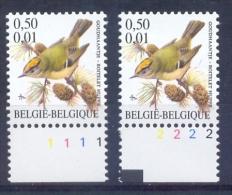 Belgie - 2001 - OBP - **  2985 P8a -  PL 1 + 2  - Vogels - Goudhaantje ** -  Andre Buzin - 1985-.. Birds (Buzin)