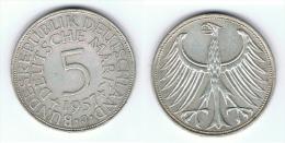 ALEMANIA DEUTSCHE 5 MARK 1957 J PLATA SILBER - [ 7] 1949-… : RFA - Rep. Fed. Alemana