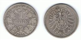ALEMANIA DEUTSCHES REICH MARK 1874 A PLATA SILBER - 1 Mark