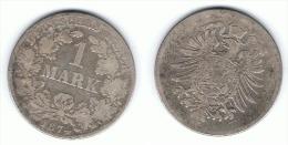 ALEMANIA DEUTSCHES REICH MARK 1874 G PLATA SILBER - 1 Mark