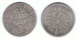 ALEMANIA DEUTSCHES REICH MARK 1875 B PLATA SILBER - 1 Mark