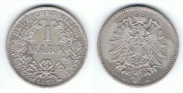 ALEMANIA DEUTSCHES REICH MARK 1875 B PLATA SILBER.png EBC BONITA - 1 Mark