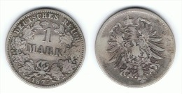 ALEMANIA DEUTSCHES REICH MARK 1875 E PLATA SILBER - 1 Mark