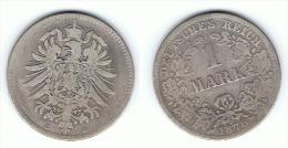 ALEMANIA DEUTSCHES REICH MARK 1876 C PLATA SILBER - 1 Mark