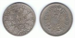 ALEMANIA DEUTSCHES REICH MARK 1878 A PLATA SILBER - 1 Mark