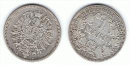 ALEMANIA DEUTSCHES REICH MARK 1887 A PLATA SILBER - 1 Mark