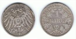 ALEMANIA DEUTSCHES REICH MARK 1893 A PLATA SILBER - 1 Mark