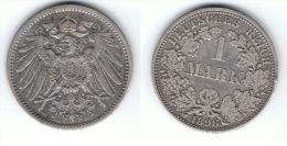 ALEMANIA DEUTSCHES REICH MARK 1896 A PLATA SILBER.png B - 1 Mark