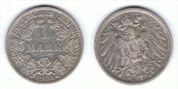 ALEMANIA DEUTSCHES REICH MARK 1904 A PLATA SILBER - 1 Mark