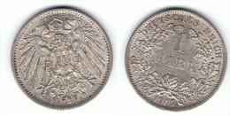 ALEMANIA DEUTSCHES REICH MARK 1907 A PLATA SILBER.png B - 1 Mark