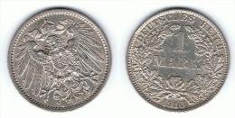 ALEMANIA DEUTSCHES REICH MARK 1910 A PLATA SILBER - 1 Mark