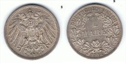 ALEMANIA DEUTSCHES REICH MARK 1914 A PLATA SILBER - 1 Mark