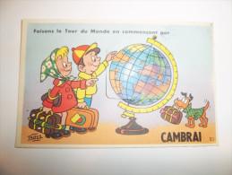 2zpv - CPA  à SYSTEME ( 10 Vues )  - CAMBRAI - Faisons Le Tour Du Monde En Commençant Par - [59] - Nord - - Cambrai