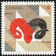 Canada - Scott #2449  Signs Of The Zodiac, Aries (*) / Used Stamp - Astrology