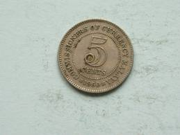 1950 MALAYA - 5 CENTS / KM 3a ( Uncleaned Coin / For Grade, Please See Photo ) !! - Kolonies
