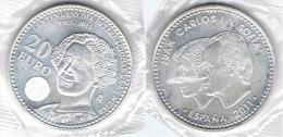 ESPAÑA JUAN CARLOS I 20 EURO 2011 CAMPOAMOR  PLATA SILVER - [ 7] 1949-… : RFA - Rep. Fed. Alemana