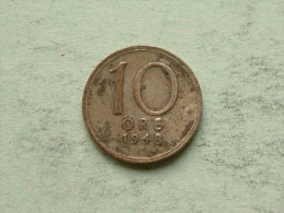 1948 - 10 Ore / KM 813 ( Uncleaned Coin / For Grade, Please See Photo ) !! - Suède