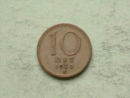 1950 - 10 Ore / KM 813 ( Uncleaned Coin / For Grade, Please See Photo ) !! - Suède