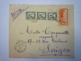 Enveloppe Au Départ  D´HANOÏ  à Destination De  SAÏGON   1946    - Viêt-Nam