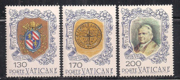 VATICANO 1978 MORTE PIO IX SASS. 635-637 MNH XF - Vaticano