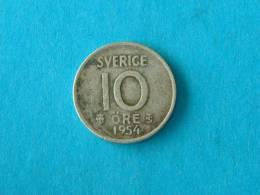 10 ORE - 1954 TS / KM 823 ( For Grade, Please See Photo ) !! - Suède