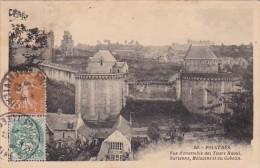 Fraance Fougeres Vue d'ensemble des Tours Raoul 1927