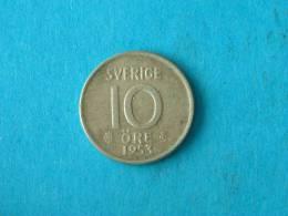 1953 TS - 10 ORE - KM 823 ( For Grade, Please See Photo ) ! - Suède
