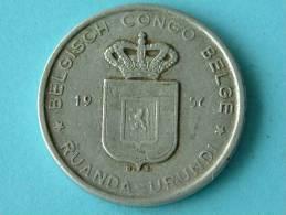 1956 - 5 FRANC / KM 3 ( Details Zie Foto ) ! - Congo (Belgian) & Ruanda-Urundi