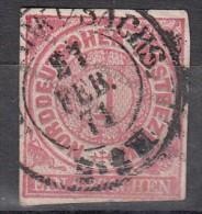 Confédération Du Nord 1g Rose Fragment Entier - Norddeutscher Postbezirk