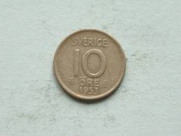 1953 TS - 10 ORE / KM 823 ( Uncleaned - For Grade, Please See Photo ) ! - Schweden