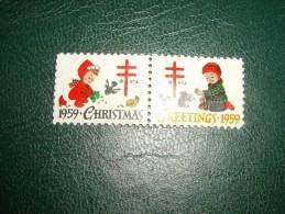 CHRISTMAS- GREETINGS   1959 NEUF** - United States