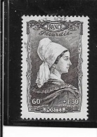 N° 593   FRANCE OBLITERES - Coiffe De Pocardie  1943 - France