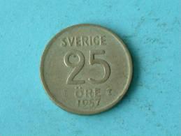 1957 - 25 ORE / KM 824 ( For Grade, Please See Photo ) !! - Autriche