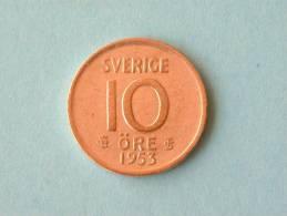 1953 TS - 10 ORE / KM 823 ( For Grade, Please See Photo ) ! - Schweden