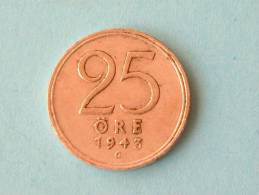 1943 G - 25 ORE / KM 816 ( For Grade, Please See Photo ) ! - Suède